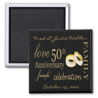 50th Anniversary Party Favor - Easy to Personalize Magnet