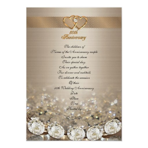 Th anniversary party for parents card zazzle
