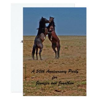 50th Anniversary Party Invitation Dancing Horses