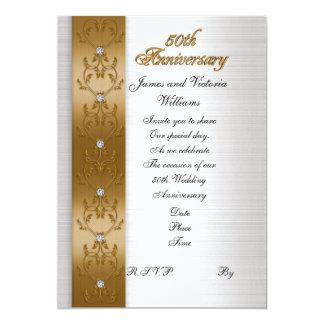 50th anniversary party invitation elegant gold