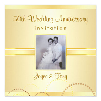 50th Anniversary Party Invitation - Photo Optional