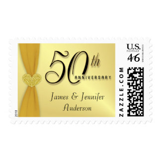50th Anniversary Party Invitation Postage