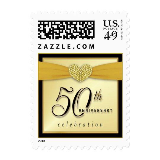 50th Anniversary Party Invitation Postage