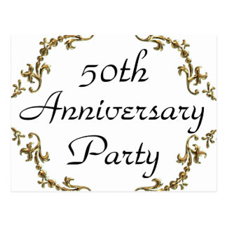 50th Anniversary Party Invitation Postcards