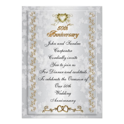 50th Anniversary party invitation Victorian angels