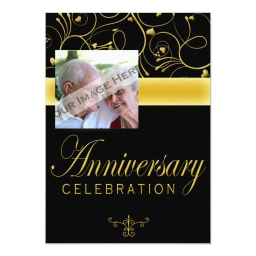 50th Anniversary Party Invitation With Photo