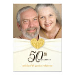 50th Anniversary Party Invitations - Classic Ivory