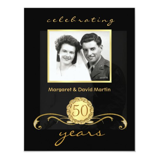 50th Anniversary Party Invitations Vintage Accents