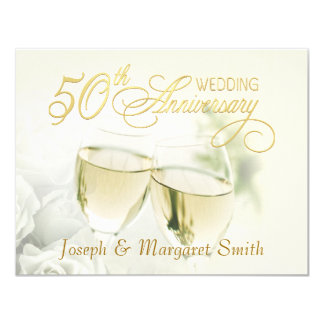 50th Anniversary Party - Ivory RSVP Reply Cards