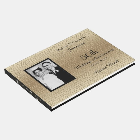 50th Anniversary Party Photo Guest Book