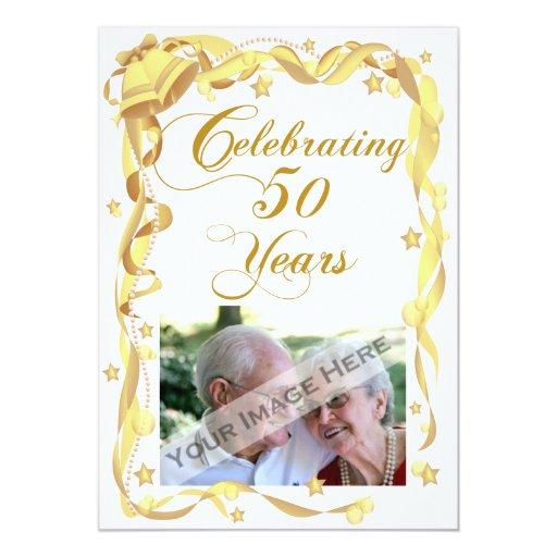 50th Anniversary Party Photo Invitation