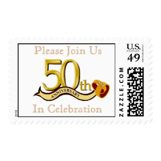 50th Anniversary Party Postage Stamp