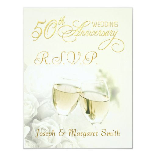 Th anniversary party rsvp reply cards zazzle