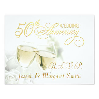 50th Anniversary Party - RSVP Reply Cards