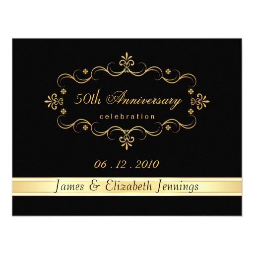 Personalized anniversary rsvp cards invitations 50th anniversary party rsvp reply cards custom invitation stopboris Image collections