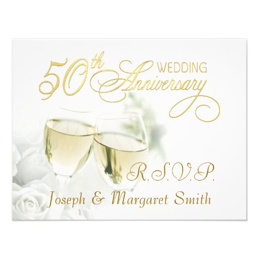 Th anniversary party rsvp reply cards quot