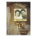 "50th Anniversary Party Vintage Photo Invitations 5"" X 7"" Invitation Card"