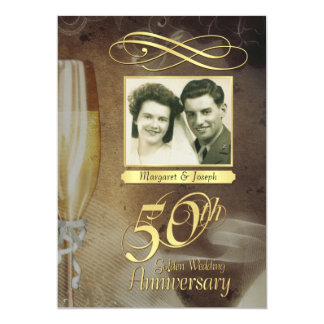 50th Anniversary Party Vintage Photo Invitations