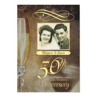 50th Anniversary Party Vintage Photo Invitations