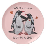 50th Anniversary Penguin Love Plate