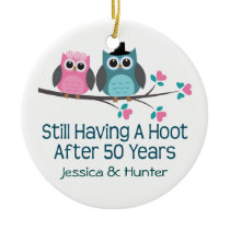 50th Anniversary Personalized Couples Gift Ceramic Ornament
