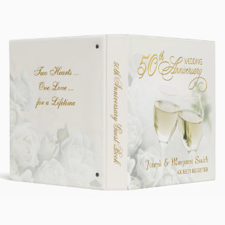 50th Anniversary - Personalized Guest Book Binder