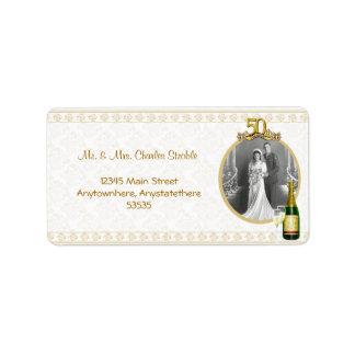 50th Anniversary Photo Address Label