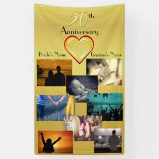 50th Anniversary Photo Collage Idea Banner