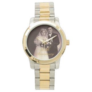 50th Anniversary Photo Personalized Wrist Watch