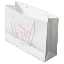 50th Anniversary Pink Text Template Gift Bag