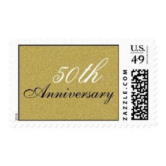 50th Anniversary Postage - Gold Glitter