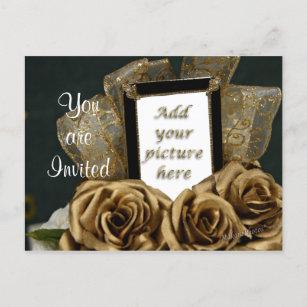 50th anniversary invitation postcards zazzle