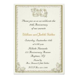 50th Anniversary Roses Invitation