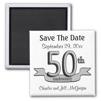 50th Anniversary Save The Date Party Favors Magnet