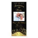 """50th Anniversary Save the Date Photo Card Invite 4"""" X 9.25"""" Invitation Card"""