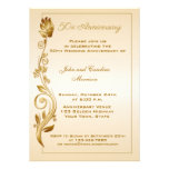 50th Anniversary Scrolled Floral Custom Announcement