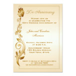 "50th Anniversary Scrolled Floral 5"" X 7"" Invitation Card"