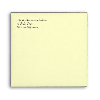 50th Anniversary Square Invitation Envelopes