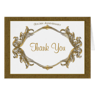 50th Anniversary Thank You Card