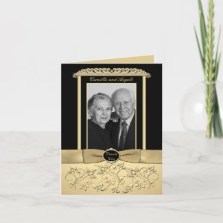 50th Anniversary Thank You Card with Photo Insert card