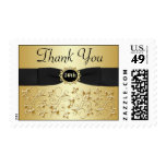 50th Anniversary Thank You Gold, Black Postage