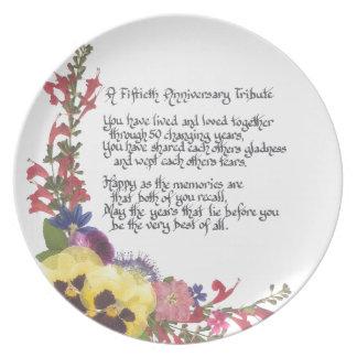 50th Anniversary Tribute Dinner Plate