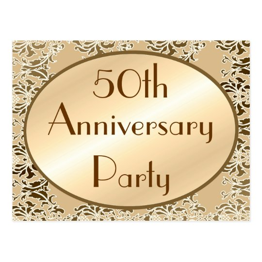 50th Anniversary Vintage Invitation Postcards