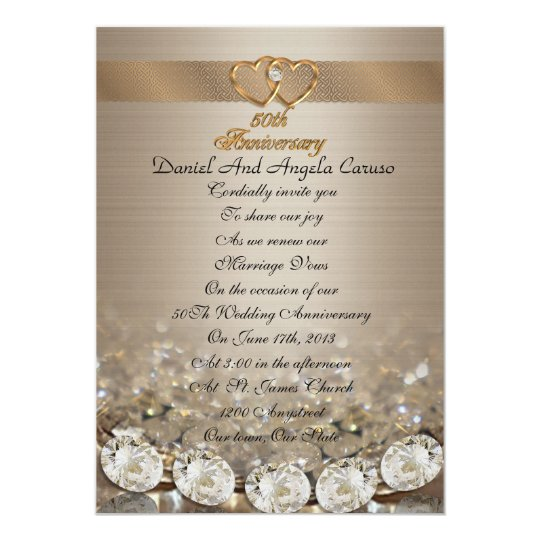 Wedding Vow Renewal Invitations: 50th Anniversary Vow Renewal Invitation
