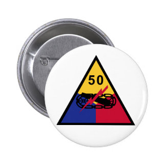 50th Armored Division Pinback Button