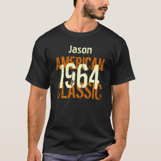50th Birthday 1964 American Classic Black and Gold T-Shirt