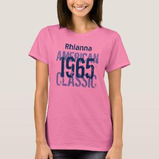 50th Birthday 1965 American Classic Pink Blue v2B T-Shirt