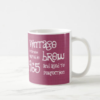 50th Birthday 1965 Vintage Brew or Any Year V01G Classic White Coffee Mug