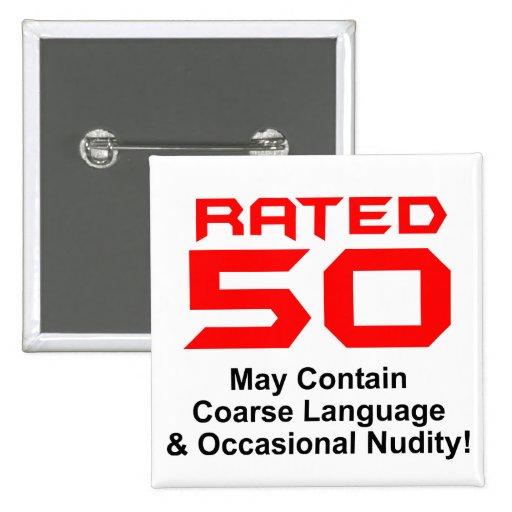 50th Birthday 2 Inch Square Button