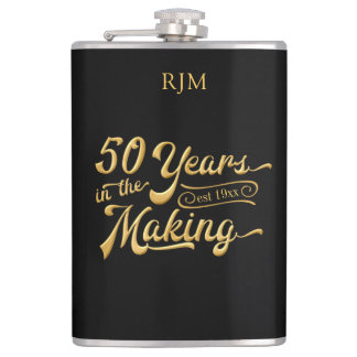 50th Birthday | 50 YEARS IN THE MAKING Black Gold Flask